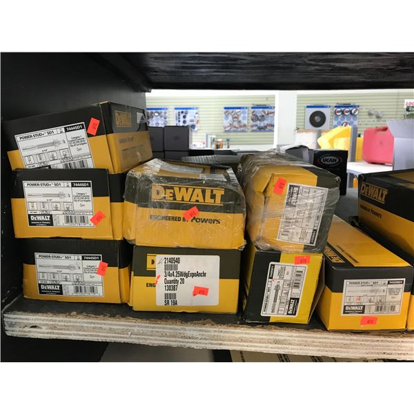 8 BOXES OF ASSTD HARDWARE (SEE PICTURE FOR DETAILS)