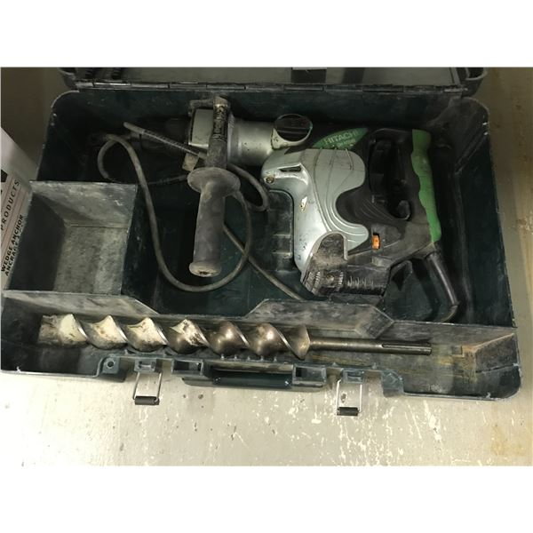 HITACHI ROTARY HAMMER DRILL WITH 1 BIT & CARRY CASE