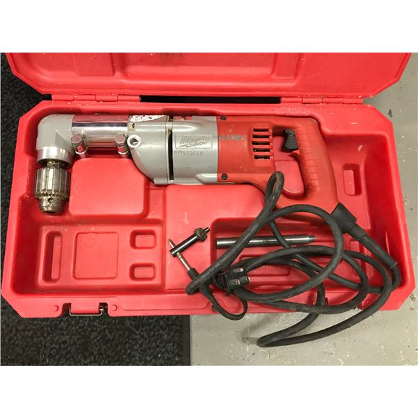 """MILWAUKEE 1/2"""" ANGLE DRILL MODEL 1107-1 WITH CARRY CASE"""