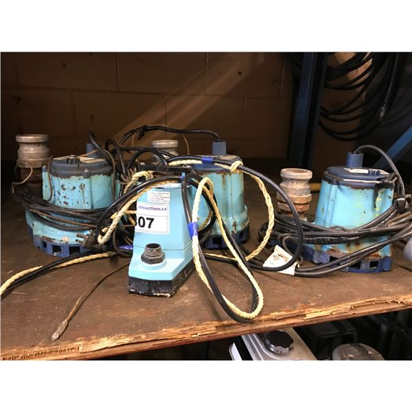 """4 SUBMERSIBLE WATER PUMP (3 X 2"""" & 1 FOR GARDEN HOSE)"""