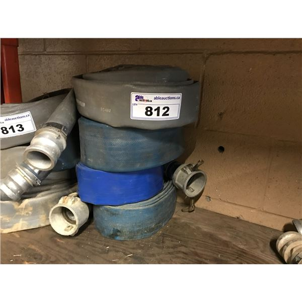 """GROUP OF 4 - 2"""" DISCHARGE HOSES"""