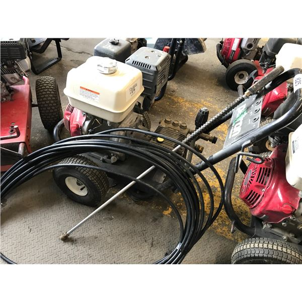 GAS POWERED 4000PSI PRESSURE WASHER WITH HONDA GX390 MOTOR WITH WAND & HOSE