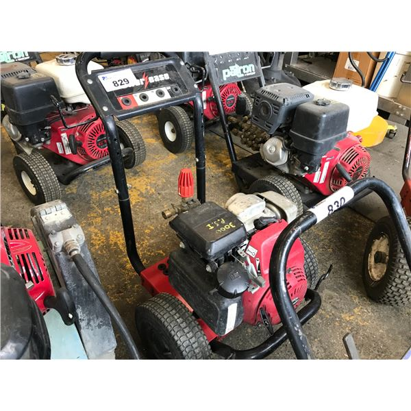 POWER EASE GAS POWERED PRESSURE WASHER 2800 PSI WITH HONDA GC160 MOTOR WITH HOSE - NO WAND