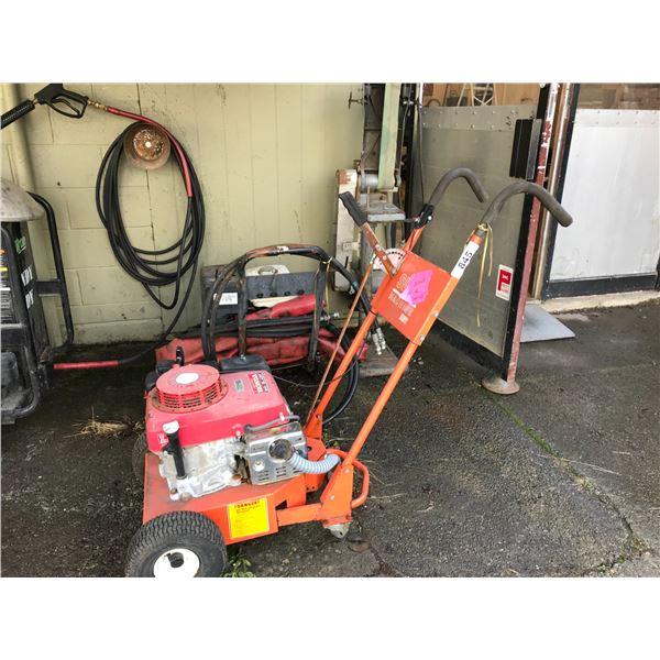 SLOT MACHINE WITH HONDA GXV340 MOTOR INCLUDES BROKEN WASHER & OLD BELT SANDER