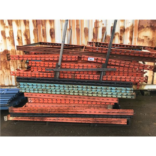 """PALLET LOT OF MISC RACKING (6' & 4"""" UPRIGHTS, 22 CROSS BEAMS)"""