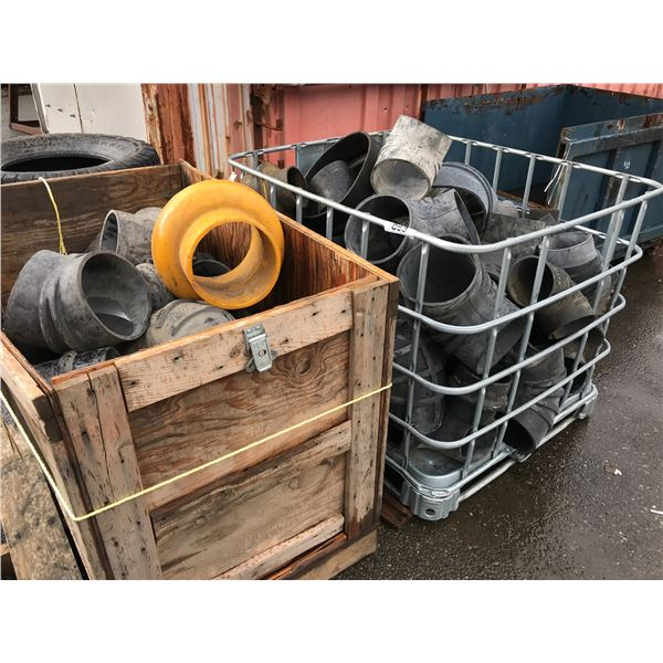 2 BINS OF ASSTED RUBBER FITTINGS