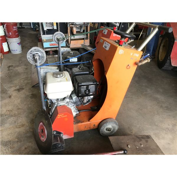 "HUSQVARNA 16"" GAS POWERED CONCRETE SAW - MODEL PC18 WITH HONDA MOTOR"