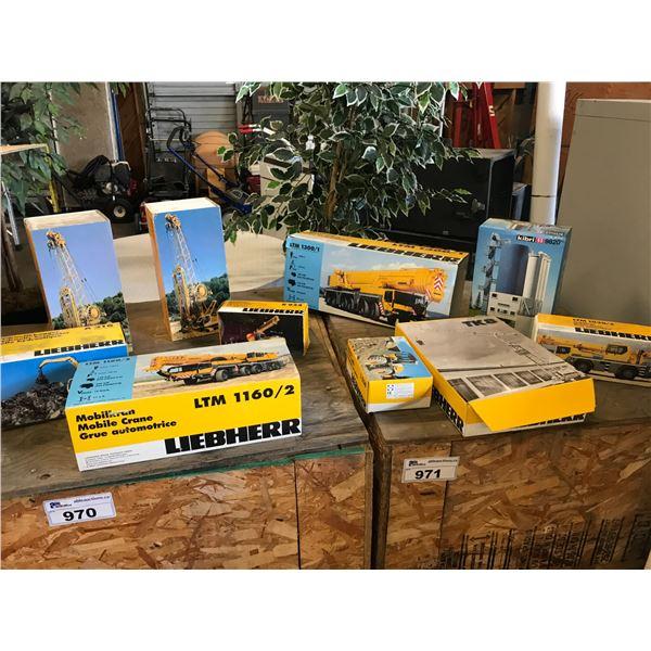 10 BOXES OF LIEBHERR HEAVY EQUIPMENT CAST MODELS