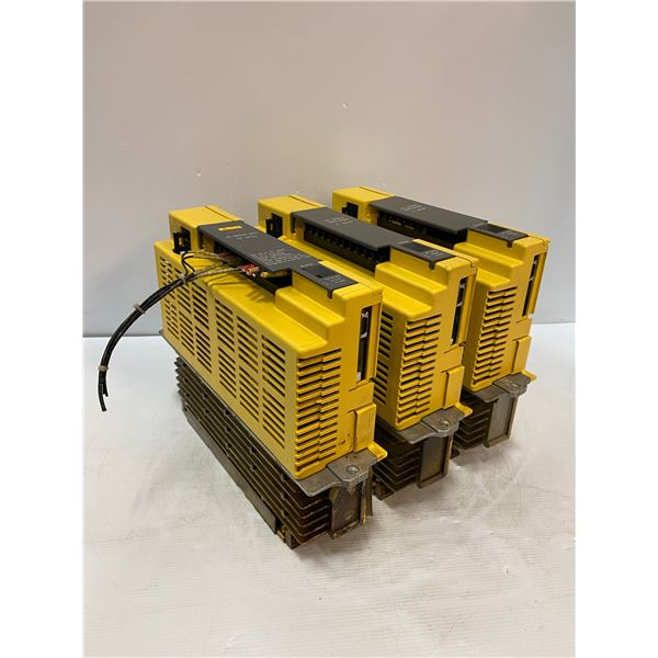 (3) Fanuc # A06B-6066-H006 Servo Amplifiers