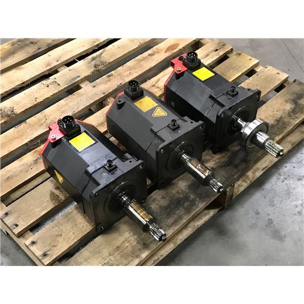 (3) Fanuc #A06B-0267-B605 AC Servo Motor