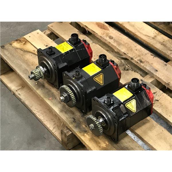 (3) Fanuc #A06B-0235-B605 AC Servo Motor