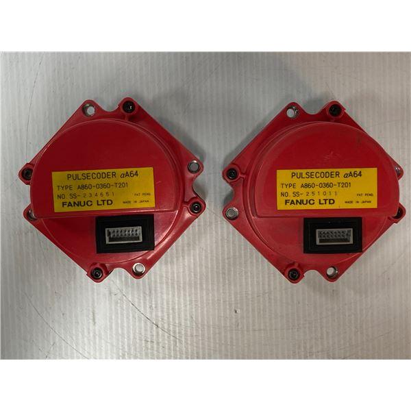 (2) Fanuc # A860-0360-T201 Pulse Coders