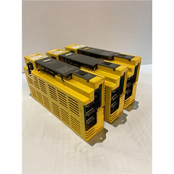 (3) Fanuc # A06B-6089-H101 Servo Amplifier Units
