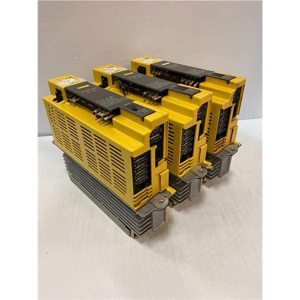 (3) Fanuc # A06B-6089-H206 Servo Amplifier Units