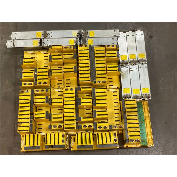 Skid Lot of Fanuc Racks with Modules and Fanuc Discharge Resistors