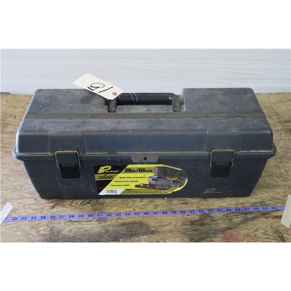Plastic Tool Box w/ Allen wrenches, Screwdrivers, etc.