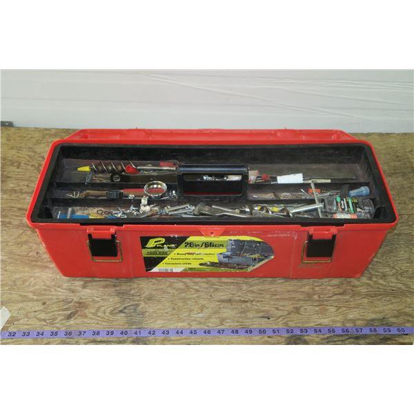 Plastic Tool Box w/ Screwdrivers, nuts/bolts, etc.