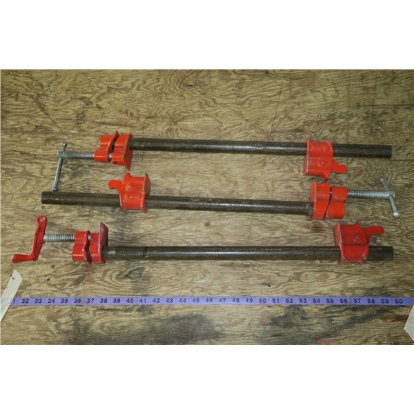 """Three 24"""" Wood Working Clamps"""