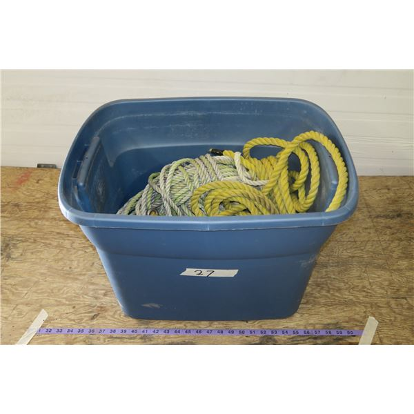 Tub Of Misc. Rope