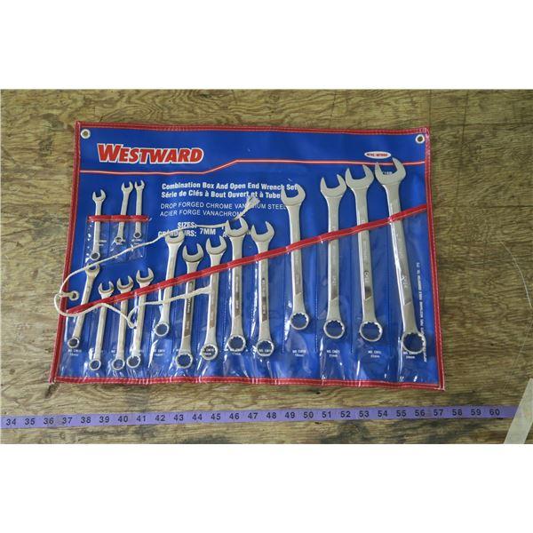 Westward Wrench Set Metric 7mm-24mm