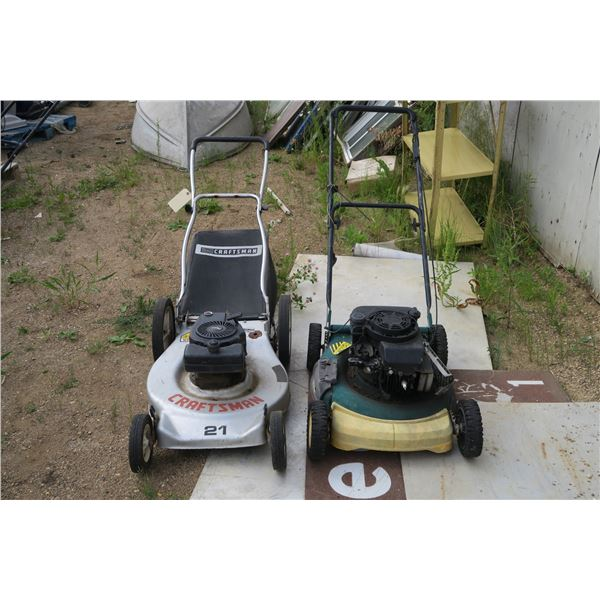 2 lawnmowers -untested