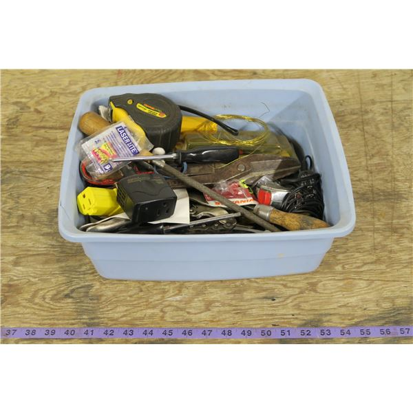 Tub of Misc Shop Supplies