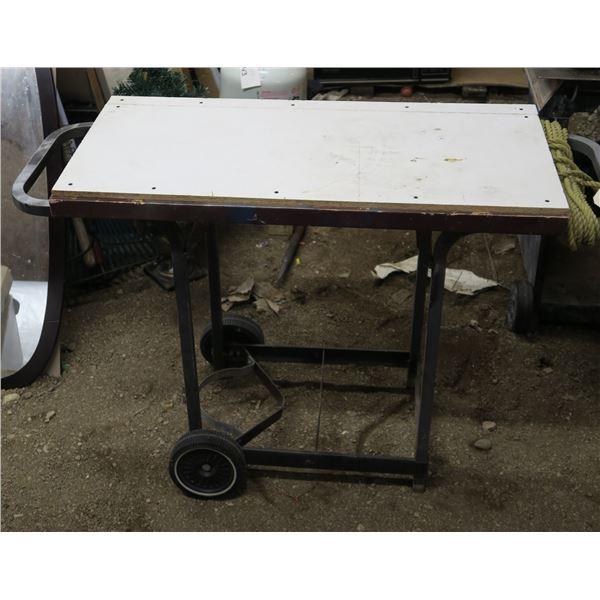 "Wheeled Work Table 32""×18""×49"""