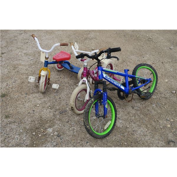 3 kids bicycles