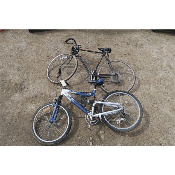 2 men's bicycles