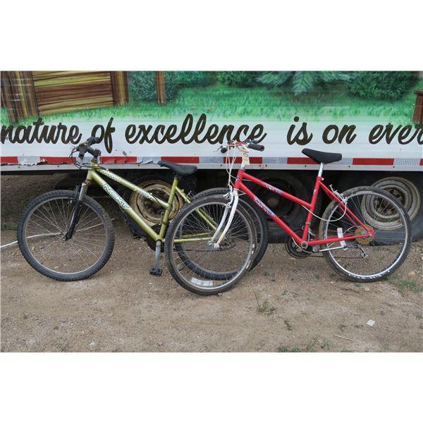 2 women's bicycles