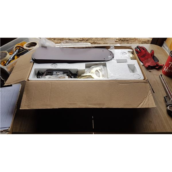 """42"""" hugger Ceiling Fan with light looks new In Box"""