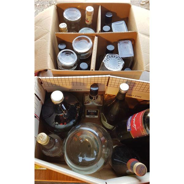 2 Boxes Various Liquor Bottles
