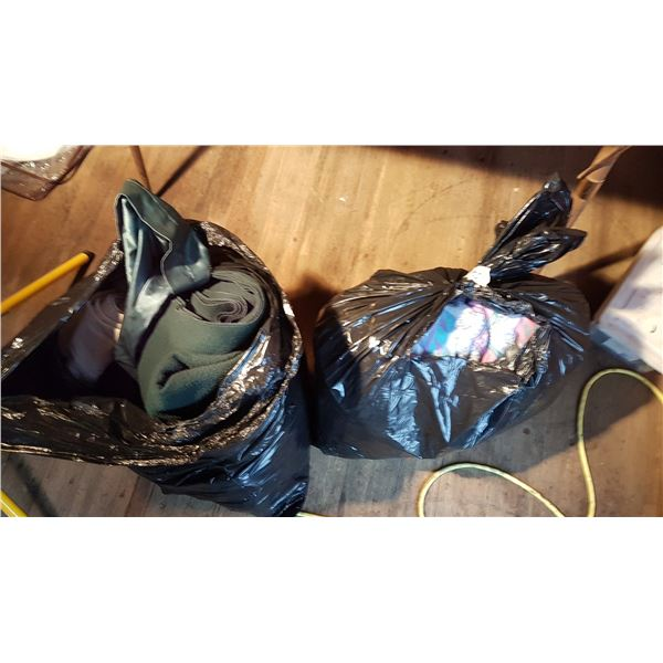 2 Bags Blankets / Linens / Curtains Etc.
