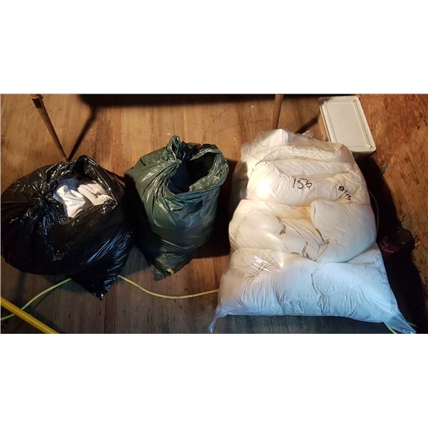 3 Bags Blankets / Pillows / Sheets Etc.