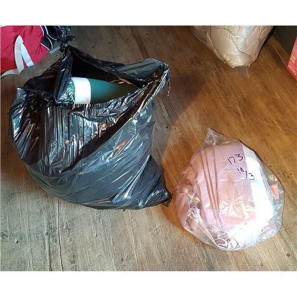 2 Bags Drapes & Blankets Etc.