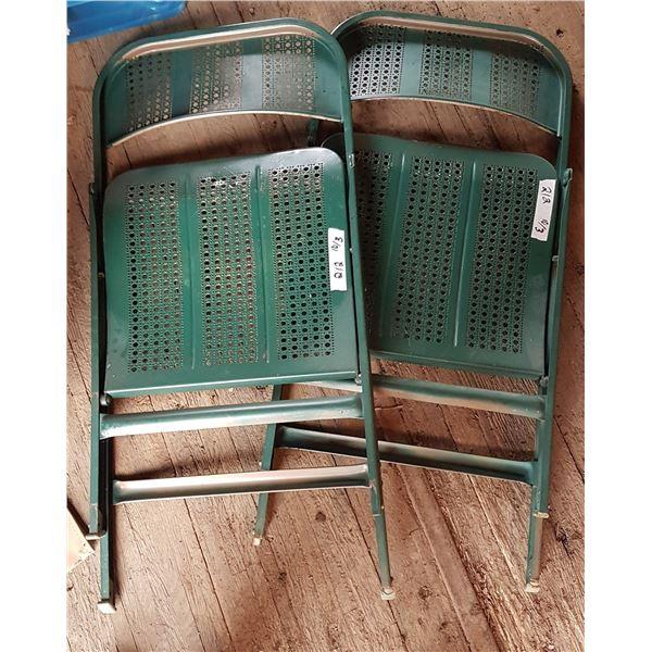 2 Metal Folding Chairs