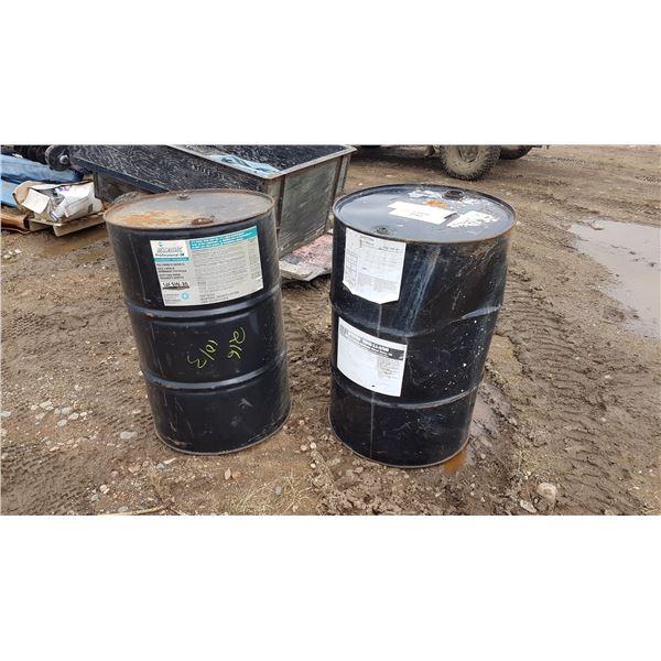 2 55 Gal Oil Barrels