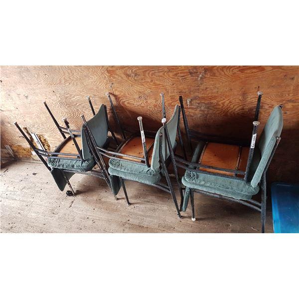 6 X Vintage Metal Framed Chairs