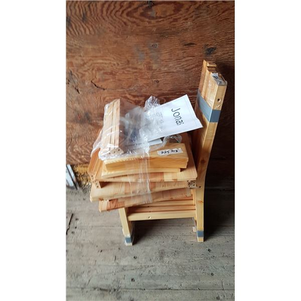 4 X Wood Chairs (Need Assembly)