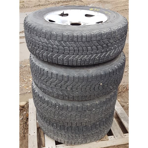 4 X Firestone Winterforce 245/70/R17 Tires On 6 Bolt Rims