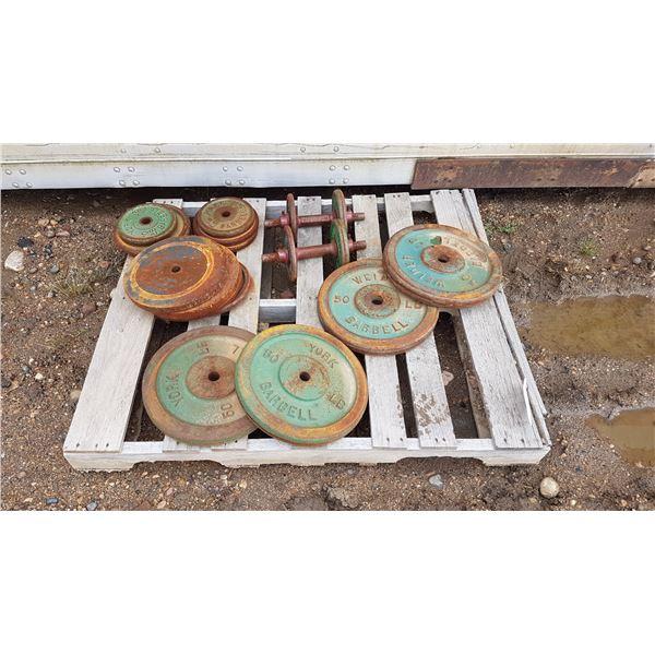 Lot Metal Barbell Plates