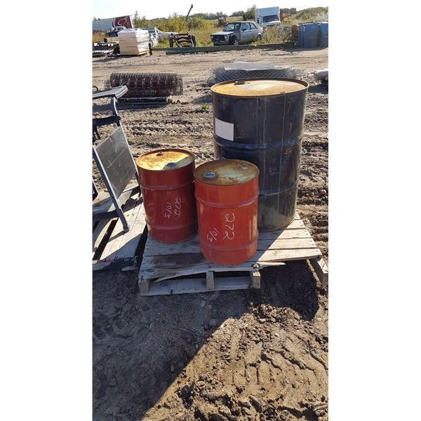 3 Metal Barrels Various Sizes