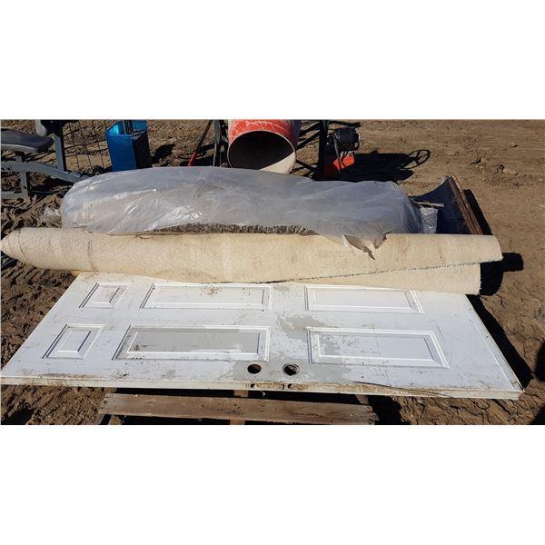 Door & Carpet & Underlay Door 79 X 35 Inch