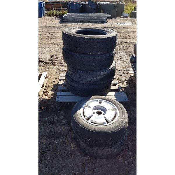 6 Various Size Tires 1 On Rim