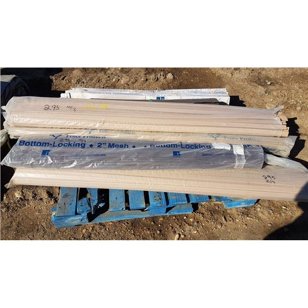 Lot Plastic Fence Products & Misc.