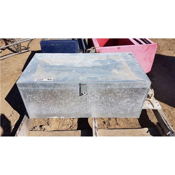 Metal Box & Contents 30 X 16 X 30 Inch