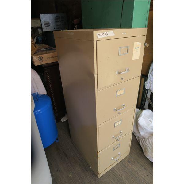 4 Drawer Filing Cabinet 18X24X52