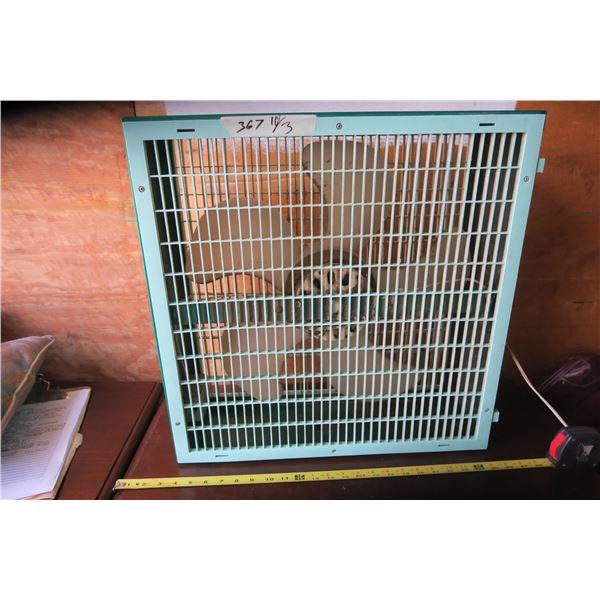 """Vintage Box Fan 22X22X7.5"""""""
