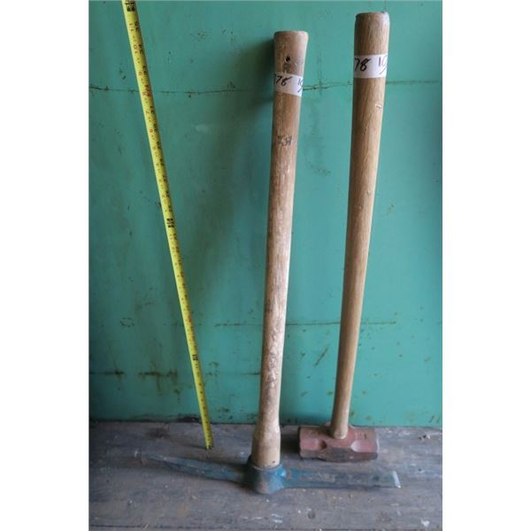 12LB Hammer and Pick Axe