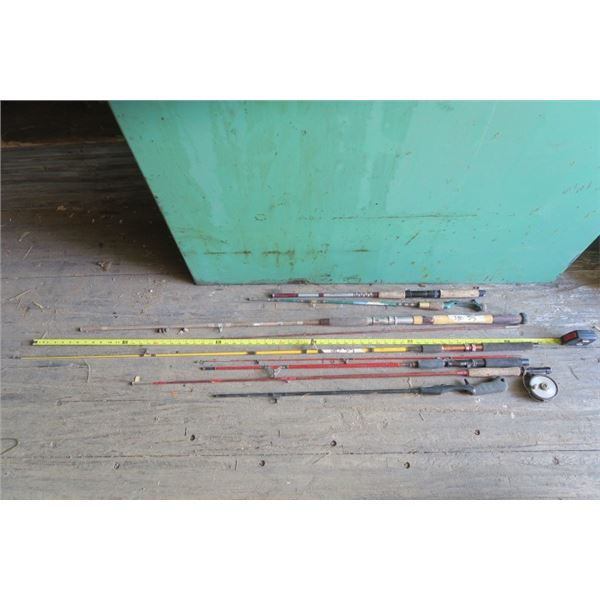 Lot of Fishing Rods, Some Complete
